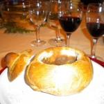 Zuppa in crosta di pane